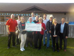 2017 Heart and Stroke Foundation Cheque